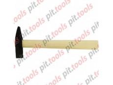 Молоток слесарный, 400 г, квадратный боек, деревянная рукоятка (Россия)