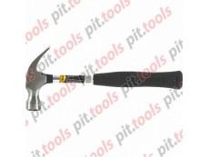 Молоток-гвоздодер, 450 г, боек 27 мм, металлическая трубчатая обрезиненная рукоятка (SPARTA)