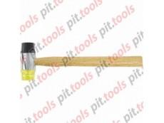 Молоток рихтовочный, бойки 35 мм, комбинированная головка, деревянная ручка (SPARTA)