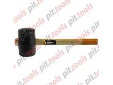Киянка резиновая, 910 г, черная резина, деревянная рукоятка (SPARTA)