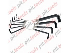 Набор ключей имбусовых HEX, 1,5–10 мм, CrV, 10шт.,оксидированные, на кольце (SPARTA)