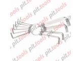 Набор ключей имбусовых HEX, 1,5–10 мм, CrV, 10шт.,никелированный, на кольце (SPARTA)