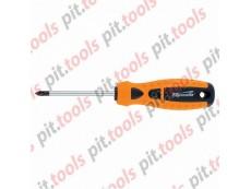 """Отвертка """"Point"""", Ph0 х 100 мм, CrV, 2-х компонентная рукоятка (Sparta)"""