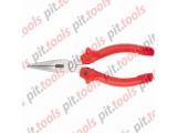 Длинногубцы, Standard, 160 мм, прямые шлифованные, пластмассовые рукоятки (MATRIX)