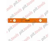 Уровень алюминиевый, 400 мм, 3 глазка, желтый, линейка (SPARTA)