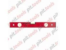 Уровень алюминиевый, 400 мм, 3 глазка, красный, линейка (MATRIX)