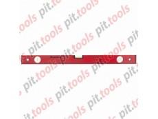 Уровень алюминиевый, 600 мм, 3 глазка, красный, линейка (MATRIX)