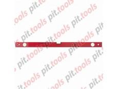 Уровень алюминиевый, 800 мм, 3 глазка, красный, линейка (MATRIX)