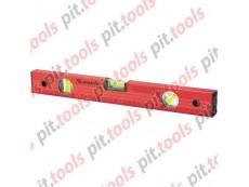 Уровень алюминиевый, 1000 мм, 3 глазка, красный, линейка (MATRIX)