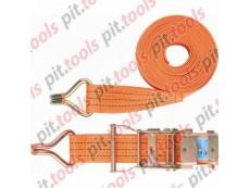 Ремень багажный с крюками, 0,05х10м, храповый механизм, Россия (Stels)