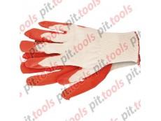 Перчатки трикотажные с натуральным латексный обливом, 13 класс, размер 8 (Россия)