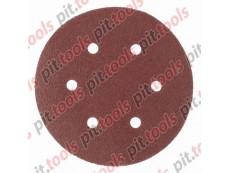 """Круг абразивный на ворсовой подложке под """"липучку"""", перфорированный, P 80, 150 мм, 5 шт. (MATRIX)"""