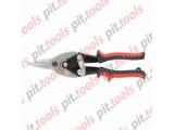 Ножницы по металлу, 250 мм, пряморежущие, обрезиненные рукоятки (MATRIX)