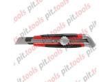 Нож, 18 мм, выдвижное лезвие, металлическая направляющая, винтовой фиксатор лезвия (MATRIX)