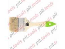 Кисть плоская 63 мм, натуральная щетина, деревянная ручка (СИБРТЕХ)