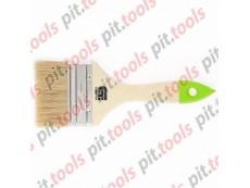 Кисть плоская 75 мм, натуральная щетина, деревянная ручка (СИБРТЕХ)