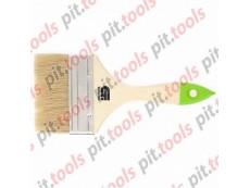 Кисть плоская 100 мм, натуральная щетина, деревянная ручка (СИБРТЕХ)