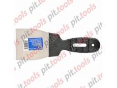 Шпательная лопатка из нержавеющей стали, 80 мм, пластмассовая ручка (СИБРТЕХ)