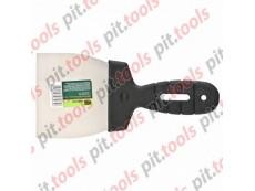 Шпательная лопатка из нержавеющей стали, 100 мм, пластмассовая ручка (СИБРТЕХ)