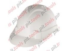Каска защитная из ударопрочной пластмассы, белая Россия (СИБРТЕХ)