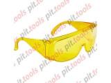 Очки защитные открытого типа, желтые, ударопрочный поликарбонат Россия (СИБРТЕХ)