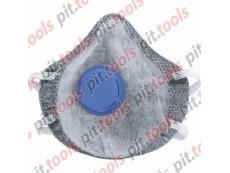 Полумаска фильтрующая (респиратор), c угольным слоем, с клапаном выдоха, FFP1 Россия (СИБРТЕХ)