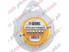 Леска для триммера круглая, 4 мм х 10м, блистер Россия (Denzel)