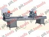 Двухголовочный отрезной станок для изготовления металлопластиковых дверей и окон LJZ2-450x3500