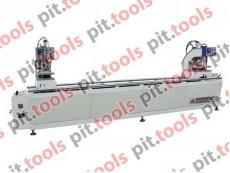 Двухголовочный паяльный станок для изготовления металлопластиковых дверей и окон SHZ2-100x3500