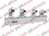 Четырехголовочный паяльный станок для изготовления металлопластиковых дверей и окон SHZ2-100x450